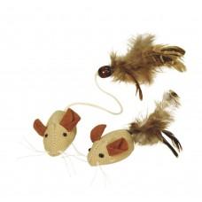 Mačja igrača MICE NATURE FEATHERS - iz naravnih materialov