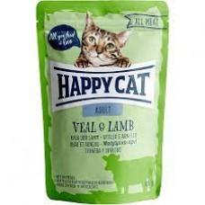Mačja hrana Happy cat sterilised teletina in jagnjetina 85g vreča