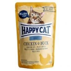 Mačja hrana Happy cat piščanec in račka 85g