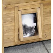Mačja hišica WOOD LESENA