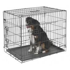 Zložljiv boks za psa 107 x 74 x 85 cm z dvemi vrati