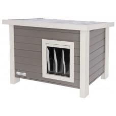 Mačja hišica EKO lesena