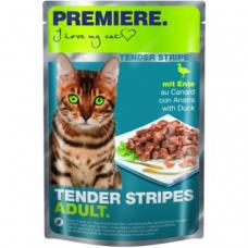 Mačja hrana Premiere Cat Tender Stripes račka, 85g