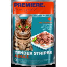 Mačja hrana Premiere Cat Tender Stripes Puran, 85g vrečka