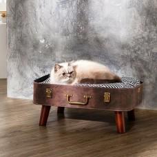 Ležišče za pse ali mačke RETRO KOVČEK