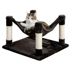 Mačja plišasta posteljica, praskalnik in igrača, 3 v 1 SAMIRA